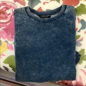 Distressed designer sweatshirt